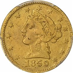 1850 Moffat & Co. $5 Gold. Kagin-7a. Rarity-4. Reeded Edge. Genuine -- VF Details – PCGS.