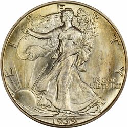 1939-D 50C. Doubled Die Obverse. FS-101 (FS-008.45). MS-66 PCGS. CAC.