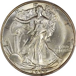 1944-D 50C. Re-Engraved Initials. FS-901. MS-67 PCGS. CAC.