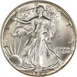 1946 50C. Doubled Die Reverse. FS-801, FS-011. MS-64 PCGS. CAC.