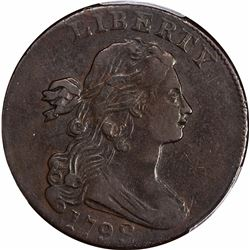 1798 1C. S-166. Style 2 Hair, Large 8. Reverse of 1795. Rarity-1. VF-30 PCGS.
