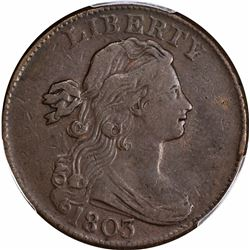 1803 1C. S-256. Small Date, Small Fraction. Rarity-3. VF-35 PCGS.