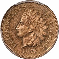 1877 1C. Proof-64 RB PCGS.