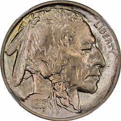 1913 5C. Buffalo Nickel. Type I. Proof-65 NGC.
