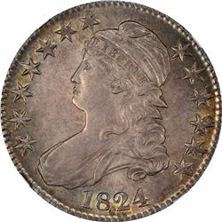 1824 50C. O-107. Rarity-2. MS-61 NGC.