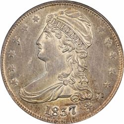 1837 50C. Reeded Edge. 50 CENTS. AU-55 PCGS. OGH.
