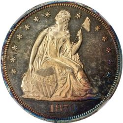 1870 $1. Proof-63 Cameo NGC.