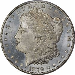 1879-CC $1. Normal Mintmark. MS-63 PCGS.