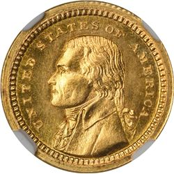 1903 Louisiana Purchase Exposition Gold $1. Jefferson Head. MS-66 NGC.