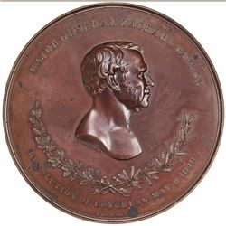 (1849) Major General Zachary Taylor Medal. Julian-MI-24. Bronze. MS-62 NGC.