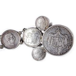 Kingdom of Hawaii. 1883-Dated Silver Coin Belt.