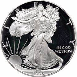 1995-W $1 Silver Eagle. Proof-69 Ultra Cameo NGC.