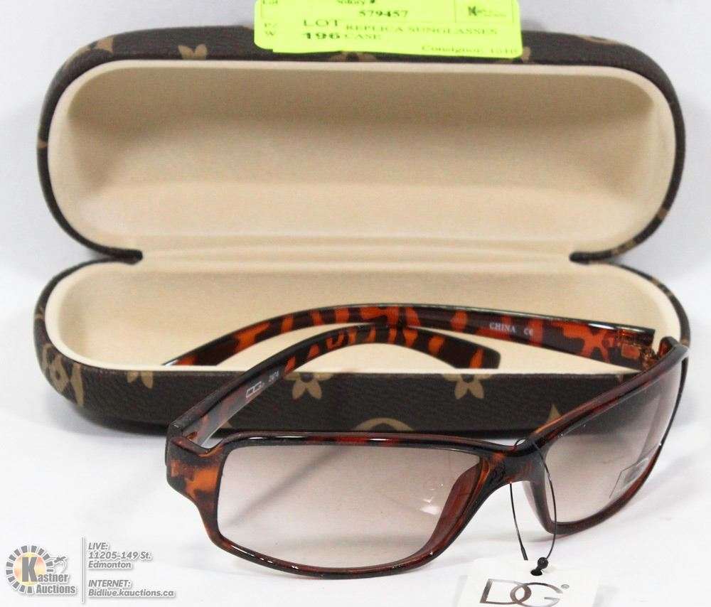 53faab0d86f PAIR OF DG REPLICA SUNGLASSES WITH HARDCASE - Kastner Auctions Replica  Sunglasses   Quality Discount Sunglasses with Free Shipping!