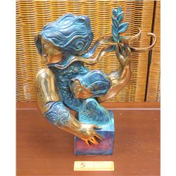 """""""Maternity"""" Sculpture by Alvar, Ltd. Ed. 36 of 99, Approx. 13"""" H, 10"""" W"""