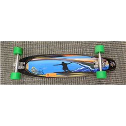 "Skateboard - Sectoe, Blue/Black ""Surfer"" Graphics, ABEC 11 Wheels, 34"" L"