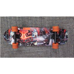 skateboard-supped up antique hot rod wide and tail board