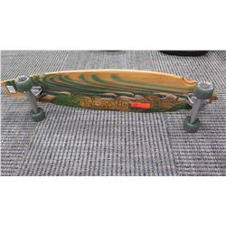"Skateboard - ""Natural Wood"" Look w/Beach Scene"" 39.5"" L"