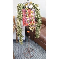Metal Sign/Display Stand w/Scrollwork Details