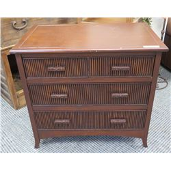 "Furniture - Woden 3-Drawer Chest, Approx 32"" x 21"" x 31.5"""