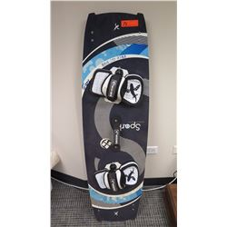 "Kiteboard - BEST Kiteboarding, Spark, Black/Blue/White Approx 15"" x 53"""