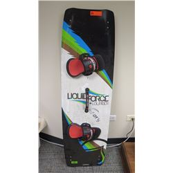 "Kiteboard - Liquid Force Lowrider, Green/Black/Blue/White Approx 18"" x 57.5"""
