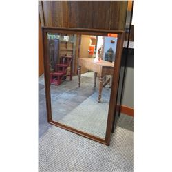 Large Wood-Framed Mirror, 36 x 50