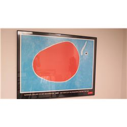 """Framed Art: Abstract Print, Miro """"Flight of the Dragonfly Before the Sun"""", National Gallery of Art"""