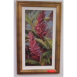 "Framed Art: Red Ginger, Original Oil on Canvas, by S.Y. Anderson, Signed Approx 18.5"" x 30.5"""