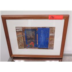 """Framed Art: Original Watercolor by Devenot, Signed Approx 16.75"""" x 13.25"""""""