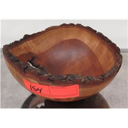 """Rough-Carved Wooden Bowl by Matthew Little 2013, Cherry, 8.5"""" x 4"""""""
