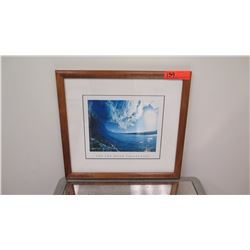"""Framed Art: Photographic Print, Jon Mozo Collection, """"Thrown Glass"""" Signed 17.5"""" x 16.25"""""""