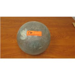 """Glass Ball Fishing Float, Approx. 8"""" dia., Cracked in Several Areas (stand not included)"""