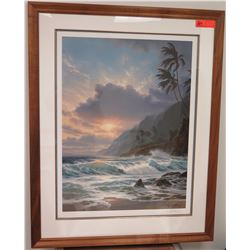 "Framed Art: Roy Gonzalez Tabora ""Escape to Paradise"", Signed, 262/450 Ltd. Ed., 1992, Includes Certi"