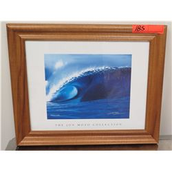 """Framed Art: Photographic Print, Jon Mozo Collection, """"Perfect Storm"""" Signed 17.25"""" x 14.25"""""""