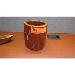 Wooden Wine Cooler, Mesquite Wood, $75 Retail Tag