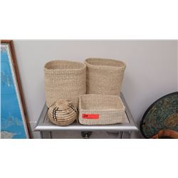 Misc. Lot of Natural Woven Baskets - Seagrass?