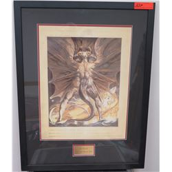 "Framed Art: Red Dragon Print ""Prop"" from Film, w/Cert. of Auth., 25 x 33, Sold for $2000"
