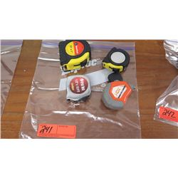 Qty 4 Misc. Tape Measures