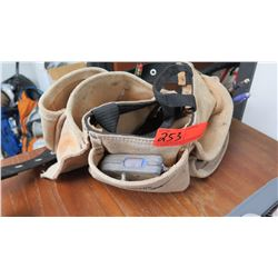 Leather Tool Belt with Misc. Items