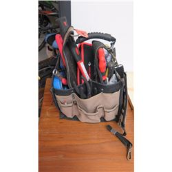 Tool Caddy w/Misc. Tools: Hammer, Pliers, Screwdrivers, etc.