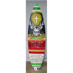 "Surfboard: Promotional, Jaegermeister White w/Red & Black Accent Lines, Approx 18.75"" x 74"""