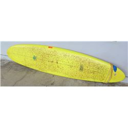 "Surfboard: Mike Merry Design (Hawaii), Yellow, Approx 22"" x 95"""