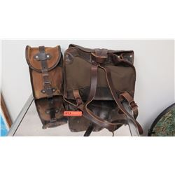 Leather and Canvas Satchel/Backpack