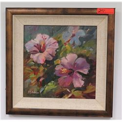 """Framed Art: """"Sun Bathers"""", Original Oil on Canvas, by S.Y. Anderson, Signed"""