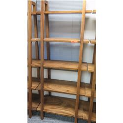"Furniture - Wooden Shelving Unit, 5-Shelves, Ladder Style, Approx 30"" x 16.5"" x  73"""