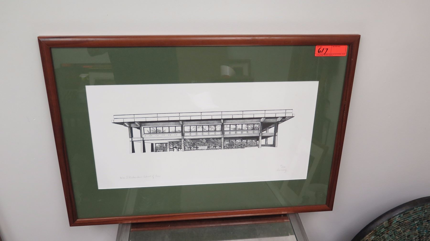 Framed art architectural drawing print 54 of 300 for Printing architectural drawings