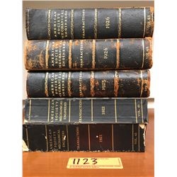 Books: Set of 5 American Society Mechanical Engineers Books, 1921-1926 Vol. (2 damaged)