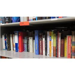 Large Book Collection - 1 Shelf Various Educational Books: Math, Writing Guides, Grammar, Biology