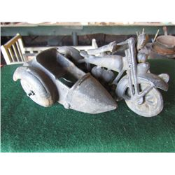 Cast Toy Motorcycle and side car