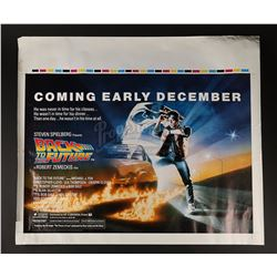BACK TO THE FUTURE (1985) - Printer's Proof UK Quad Advance Poster